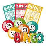 Bingo of loterijspelillustratie vector illustratie