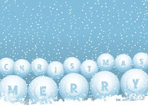 Bingo lottery ball Christmas snowballs Stock Photo