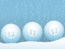 Bingo lottery ball snowballs Royalty Free Stock Image