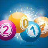 2014 bingo lottery balls Royalty Free Stock Image