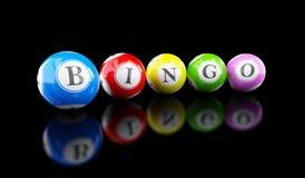 Bingo lottery balls. On a black background vector illustration