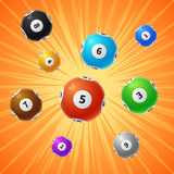 Bingo lottery balls 3d gambling vector background Stock Image