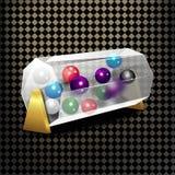 Bingo lottery balls numbers background. Lotto keno winner. Gamble isolated leisure stock illustration