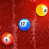 Bingo lottery balls over textured paint background Royalty Free Stock Photography