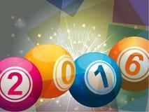 Bingo lottery balls 2016 Royalty Free Stock Photography