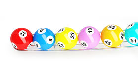 Bingo lottery balls Stock Photos