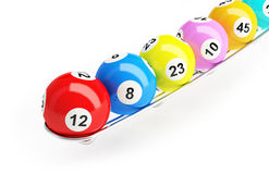 Bingo lottery balls Royalty Free Stock Photo
