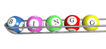 Bingo lottery colorful balls Stock Photos