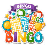 Bingo or lottery game background  Royalty Free Stock Photos
