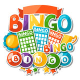 Bingo or lottery game background  Stock Photo