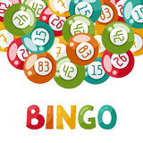Bingo or lottery game illustration with balls Stock Images