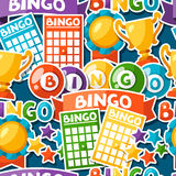 Bingo or lottery game seamless pattern with balls Royalty Free Stock Photography