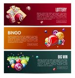 Bingo lottery online lotto game vector web banners templates set Stock Photography