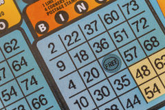 Bingo Lottery Scratch Ticket Royalty Free Stock Image