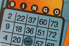 Bingo Lottery Scratch Ticket Royalty Free Stock Images