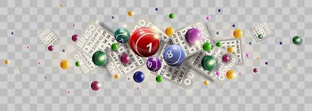 Bingo lottery ticket lucky balls and numbers of lotto vector design Stock Photos