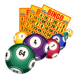 Bingo lottery tickets and balls icons realistic vector illustration isolated Stock Photos