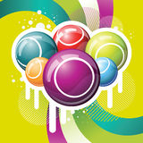 Bingo or lottry balls and cards Royalty Free Stock Image