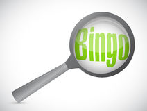 Bingo magnify glass illustration design Stock Photo