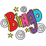 Bingo message with numbers and stars Stock Images