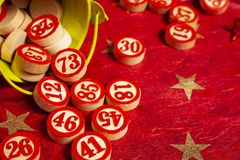 Bingo Numbers In A Bucket Royalty Free Stock Photos