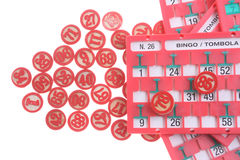Bingo numbers Stock Image