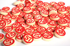 Bingo nummeriert ruhige Lebensdauer Stockfotografie