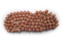 Bingo oder Lottospiel Hölzerne Fässer des Lottos auf Karten lizenzfreie stockfotografie