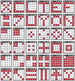 Bingo patterns. Played at bingo halls and casinos Stock Illustration
