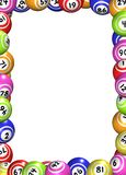 Bingo piłek rama ilustracja wektor