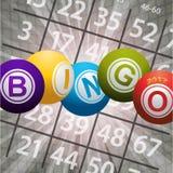 Bingo piłki 2017 i liczby na abstrakcjonistycznym tle Zdjęcie Stock