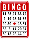 Bingo Score Card. An illustration of a classic score card for the game of Bingo Stock Image