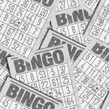 Bingo seamless retro background with cards Stock Photography