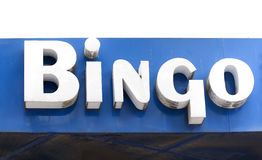 Bingo sign royalty free stock photo
