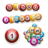 Bingo stickers set Royalty Free Stock Images