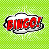 Bingo-test ! Bulle comique de la parole, bande dessinée Photos stock