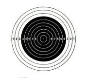 Bingo-test - cible avec la ligne numérale Photographie stock
