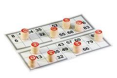 Bingo-test de pièce Images libres de droits