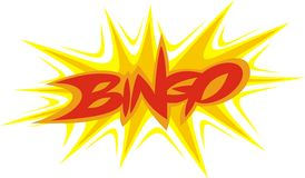 Bingo text Royalty Free Stock Image