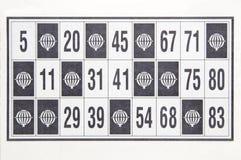Bingo ticket. A single isolated object Stock Photography