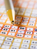 Bingo ticket Royalty Free Stock Photography