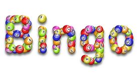 Bingo Word. Illustration of the word Bingo made from bingo balls royalty free illustration