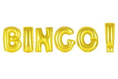 Bingo, złocisty kolor Zdjęcia Royalty Free