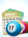 Bingobollar och cards2 Fotografering för Bildbyråer