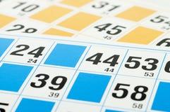 bingoen cards nummer forty fyra Royaltyfri Foto