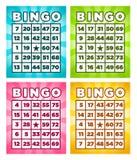 Bingokaarten royalty-vrije illustratie