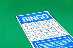Bingokartengefahr-Glücksspielspiel Stockfoto