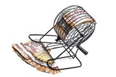 Bingokooi en contant geld Royalty-vrije Stock Foto's