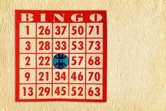 Bingokort på pergament Arkivfoton