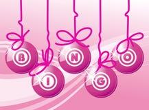 Bingokugeln in der rosafarbenen Farbe Lizenzfreie Stockfotos